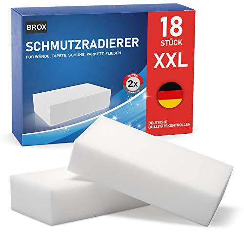 Schmutzradierer Wand 18 XXL Magic Eraser - Radierschwamm auch als Sneaker Reiniger - Robuster Magic Schwamm universell und wiederverwendbar Zauberschwamm