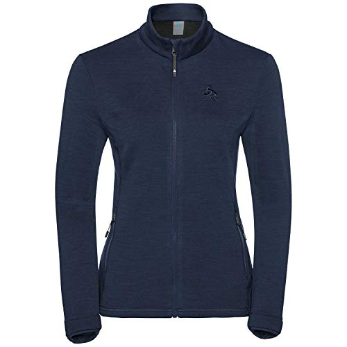 Odlo Damen Sierra Midlayer Fleecejacke, Diving Navy, XL