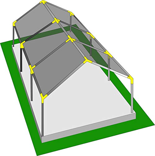 "INS Import Canopy Fittings Kit 1 3/8"" High Peak Frame Carport Connectors, Full Set for 6, 8, 10 Legs, Choose Size (for 8 Legs)"
