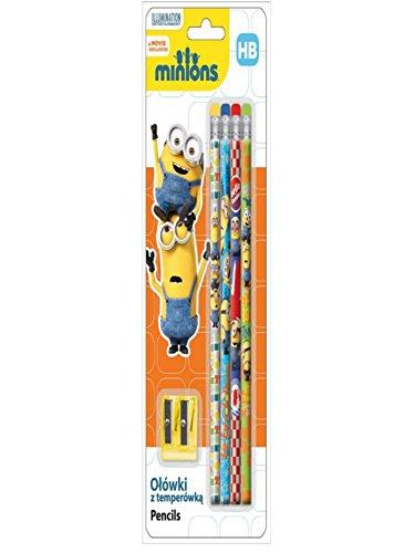 5 teiliges Bleistiftset Bleistifte Minions