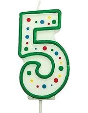 PME groen nummer 5 kaars