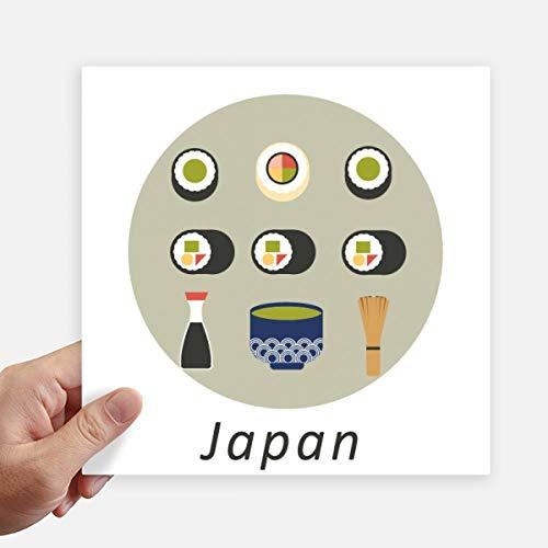 DIYthinker Traditionele Japanse Lokale Voedsel Sushi Vierkante Stickers 20 Cm Muur Koffer Laptop Motobike Decal 4 Stks