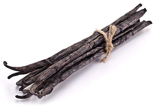 5 Vanilla Beans  Whole Extract Grade B Pods for Baking Homemade Extract Brewing Coffee Cooking  Tahitian