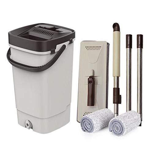 DFJU Esfregão de limpeza de Piso, ferramenta de limpeza de Piso em Spray de água de Microfibra com 2 luvas de limpeza de almofada de suplemento de Microfibra e lâmina de limpeza de 600ml