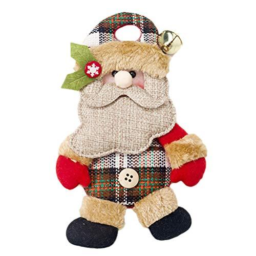 Einsgut kerstboomversiering Santa Claus hangende pop hanger cadeau ornamenten voor kerstboom vakantie raam naar huis deur Leeftijd man.