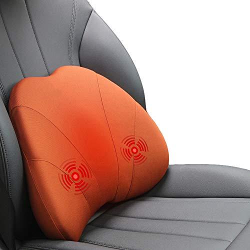 Fankr Rugkussen voor autostoelen, traagschuim, massage, verwarming, lendenkussen, ergonomische lendensteun, lichtheid rugpijn, geschikt voor autostoelen, bureaustoelen, rolstoel