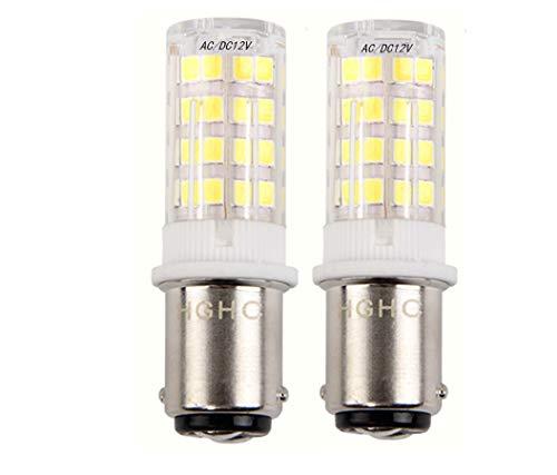 5W LED Lampe Beleuchtung, DC/AC 12V 500lumen, 35W entspricht, 360° Abstrahlwinkel Kaltweiß 6000K (2-Pack)
