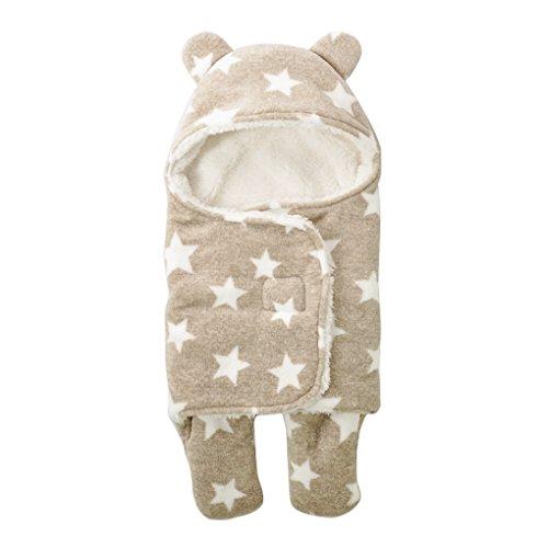 FXZ おくるみ ブランケット ベビー服 すっぽり やわらか 星柄 動物 足付き かわいい 着ぐるみ 防寒 厚い 退院時 出産祝い 寒さ対策 ベビー 新生