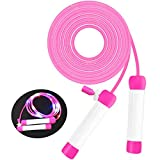 Jump Rope for Kids,Skipping Rope,Jumping Rope, Adjustable Length Jump Ropes with Leds Light Up Function for Boys Girls Adults Women Jumping Fitness or Lights Party