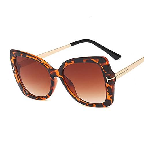 LUOXUEFEI Gafas De Sol Gafas De Sol De Gran Tamaño Para Mujer Gafas De Sol De Conducción Marrones Mujer