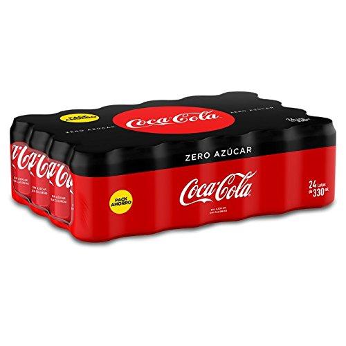 Coca-Cola Zero Azúcar Lata - Pack de 24 unidades x 330 ml
