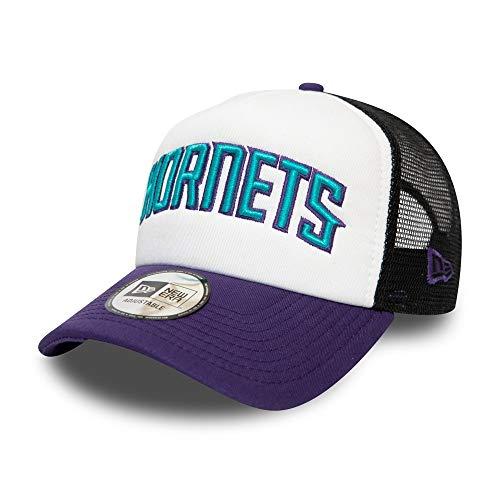 New Era Charlotte Hornets Colour Block Team Trucker NBA Cap, One Size