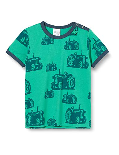 Fred'S World By Green Cotton Farming S/s T T-Shirt, Vert (Green 018602201), 74 Bébé garçon