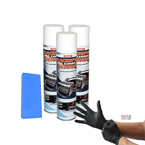 3 x Reinex haard- en ovenreiniger spray (3 x 400 ml) set