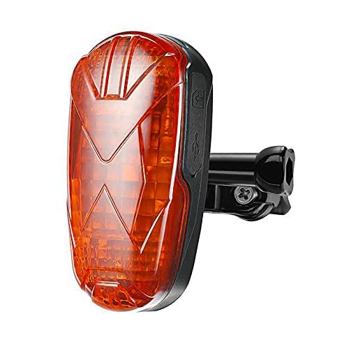 KUCE GPS Tracker Fahrrad, Anti-Diebstahl Fahrrad Rücklicht wasserdicht Echtzeit sichere Warneinrichtung hohe Genauigkeit GPS Tracker Bewegungsalarm