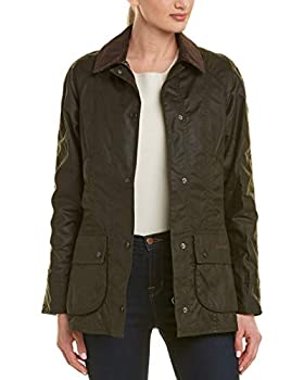 Barbour Women s Beadnell Wax Jacket Olive Size 8  US  / 12  UK