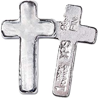 1 oz. Hand-Poured Silver Cross