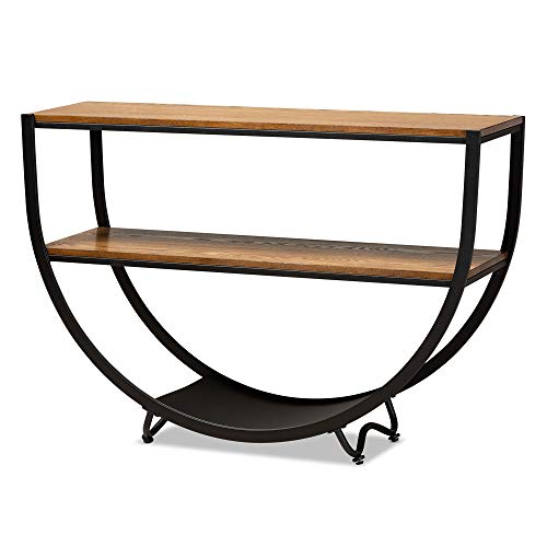 Baxton Studio Antique Textured Wood Console Table