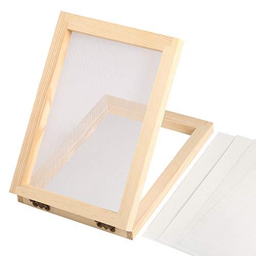 Celyoce 18 cm x 12,5 cm Holzpapierherstellung Formrahmen Papierherstellung Screen Kit für DIY Papier Handwerk