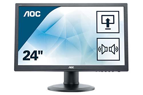 AOC E2460PDA 61 cm (24 Zoll) Monitor (VGA, DVI, 1920 x 1080, 60 Hz, Pivot) schwarz