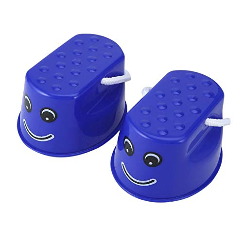DBSUFV Herramienta de Entrenamiento de Equilibrio de plástico para Exteriores, 2 uds, Zancos para Saltar, Juguetes, Zapatos portátiles para equilibrar la Cara con Sonrisa para niños