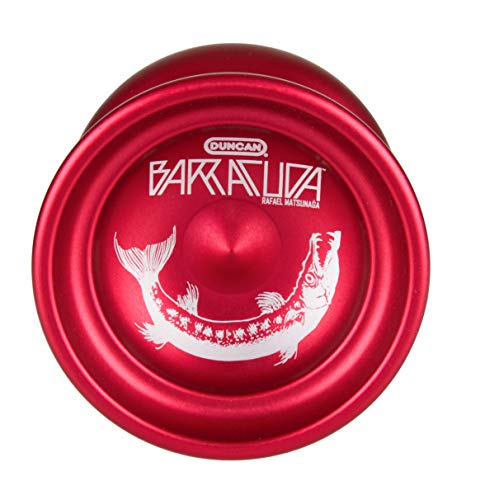 Duncan Toys Barracuda Yo-Yo, Unresponsive Pro Level Yo-Yo, Concave Bearing and Aluminum Body, Red