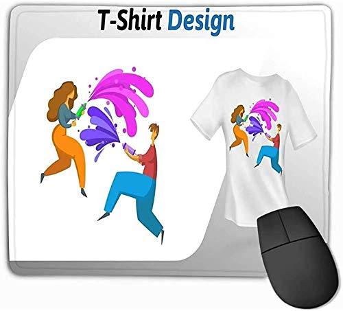 N/A muismat, standaard grootte muismat jongen meisje spelen waterpistolen afdrukken kleurrijke Mock Up ontwerp sjabloon geïsoleerd wit 25 * 30Cm