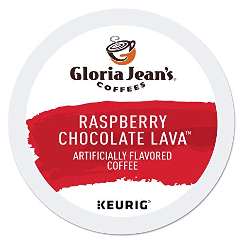 Gloria Jean's Coffees Raspberry Chocolate Lava, Single-Serve Keurig K-Cup Pods, Flavored Medium Roast Coffee, 24 Count