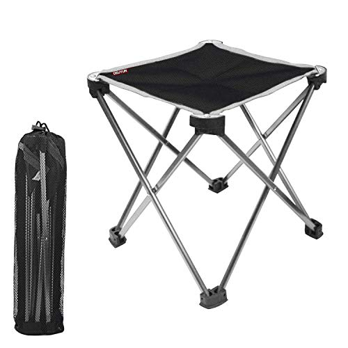 DEIJYUN アウトドアチェア 耐荷重100kg 収納バッグ付き (レッド)