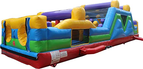 Buy Commercial Grade 40 Foot High Traffic Obstacle Course Bounce House Inflatable