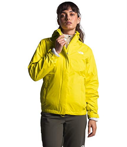 Womens Waterproof Hooded Lemon Rain Jacket