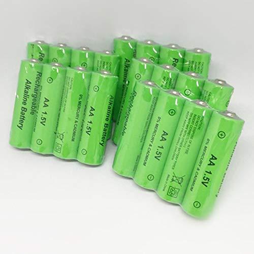 TOOGOO Paquete De 20 AA Batería Recargable 3000Mah 1.5V Nuevo Batería Recargable Alcalina para Juguete De Luz Led Mp3