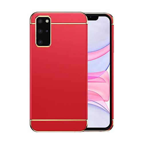 Funda Samsung S20 Plus 5g Case,Fundas Samsung Galaxy S20 Plus Antigolpes Carcasa Diseño Minimalista Estuche Rígido Ultra Original Delgado de PC a Prueba (Samsung S20 Plus, Rojo)