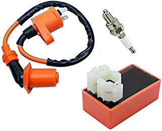Racing Ignition Coil + Spark Plug + AC CDI box For GY6 50cc-150cc 4-Stroke Engines Scooters, ATVs, Go Karts, Mopeds