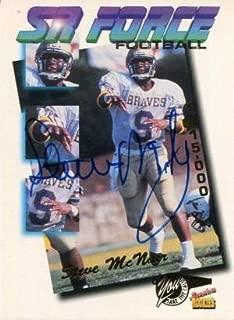Steve McNair Autographed 1995 Rookie Signature Card - NFL Autographed Football Cards