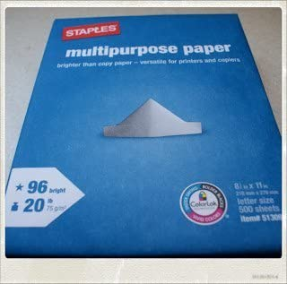 3 Outlet SALE Weekly update X Staples Multipurpose Copy Fax Laser Inkjet 96 Printer Paper