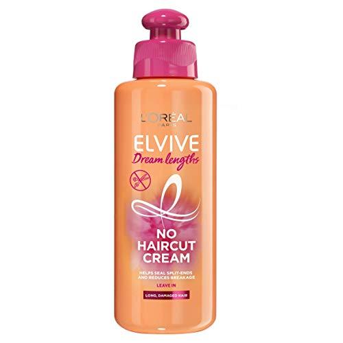 L'Oréal Paris Elvive Dream Lengths No Hair Cut Cream Leave-In Treatment 200ml (For Long, Damaged Hair),