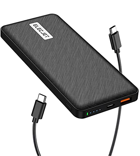 ELECJET PowerPie P10 | USB C Power Bank 25W PD 3.0 PPS | 10000mAh | Super Fast Charge Samsung S21 S20 Ultra, Note 20 10+ | Compatible with iPhone 12/11/X/8, iPad Pro, Surface Pro, Nintendo Switch