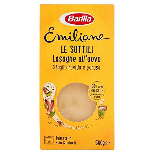 Barilla Le Emiliane Lasagne Classiche Pasta all'Uovo, 500g