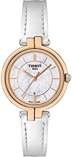 Tissot Flamingo Mother of Pearl Dial Ladies White Leather Strap Watch T094.210.26.111.01