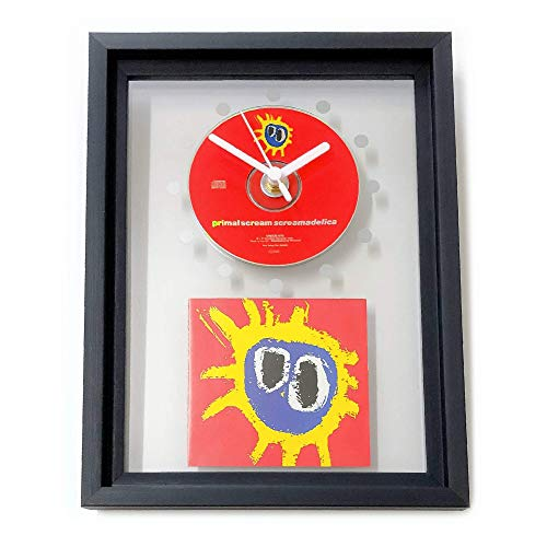 PRIMAL SCREAM - Screamadelica: GERAHMTE CD-WANDUHR/Exklusives Design
