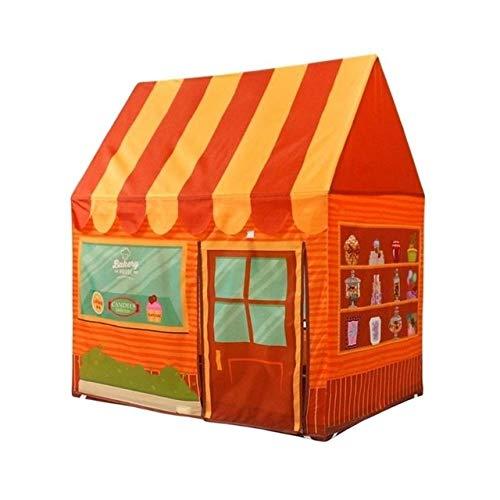 Puzzle Children Tent Indoor and Outdoor Toys Castle Dessert House Play House Children Play House(Orange). (Color : Orange)