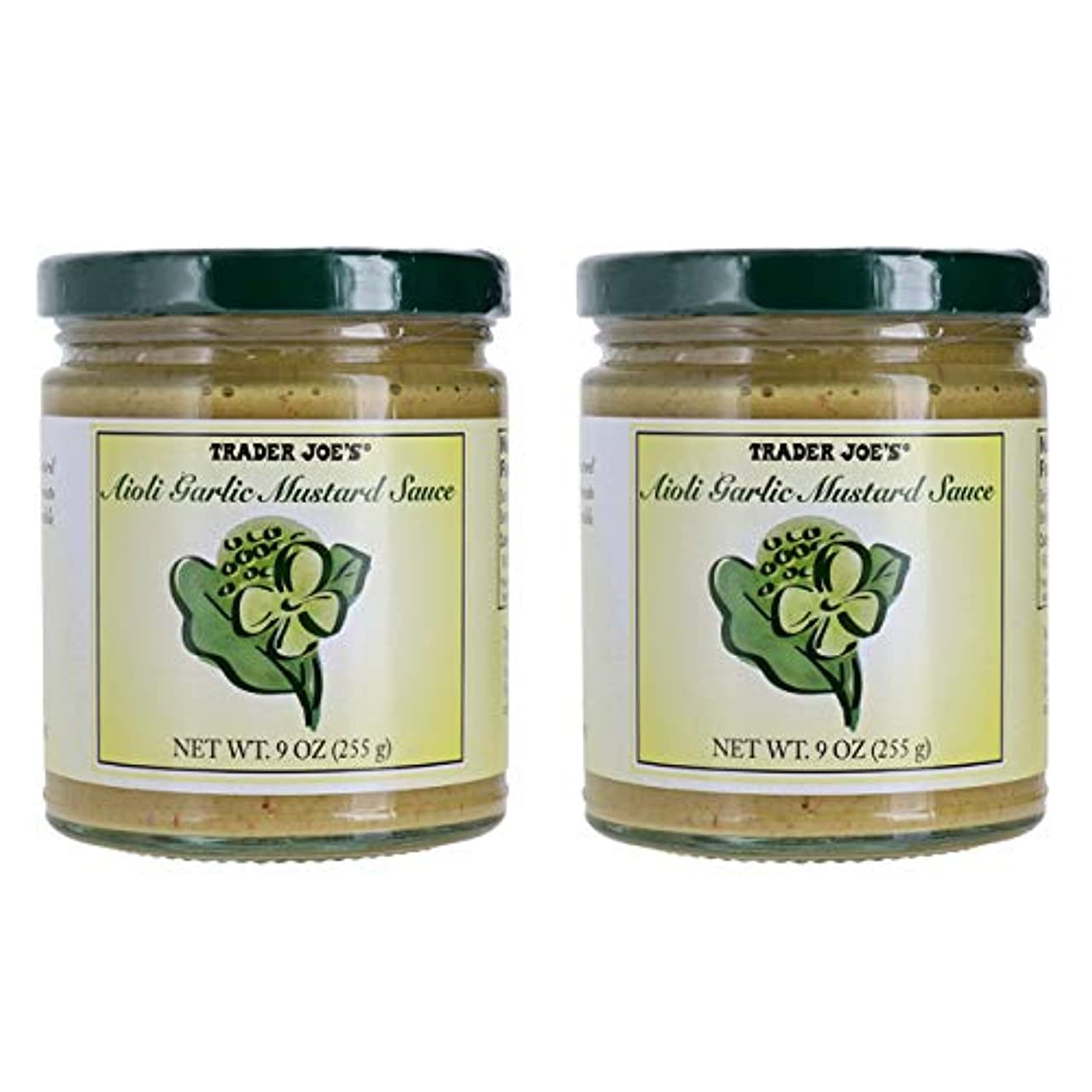 Trader Joe's Aioli Garlic Mustard Sauce Bundle (2 Pack)