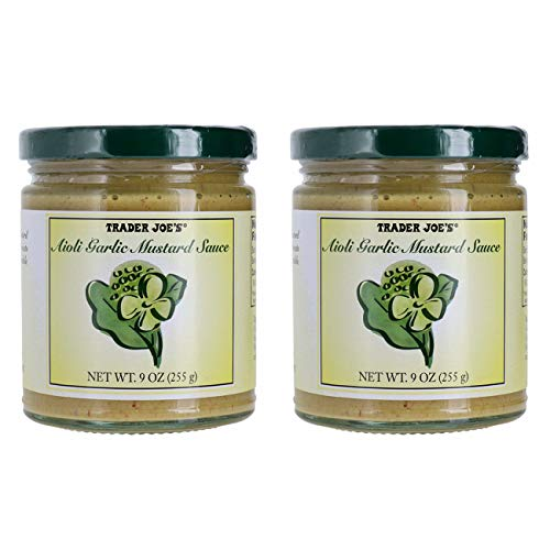 Trader Joe's Aioli Garlic Mustard Sauce Bundle (2 Pack)