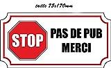 5 autocollant sticker stop pus de pub merci macbook laptop voiture moto boite aux a...
