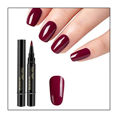 1 Stück 3 in 1 Schritt Nagelgel Lacklack Pen One Step Nagel UV Gel verwenden - Nail One Step Nagellack Stiftform QQ Nagellack Kleber 18 Farbe Nagellack (D)