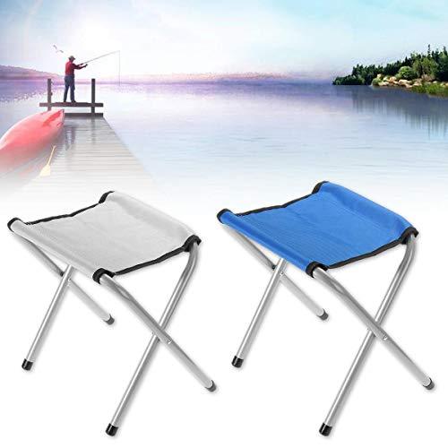 Select Zone 35 cm Silla plegable portátil para exteriores, viajes, senderismo, camping, pesca, playa, barbacoa, taburete (color blanco)