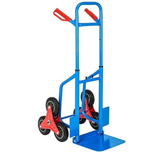 TecTake Carrello per scale 6 ruote portapacchi manuale da trasporto montascale scala