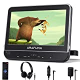 10.1 Inch Car DVD Player with Headrest Mount, Portable DVD Player for Car with Headphones, Support 1080P Video, HDMI Input & AV in/Out, USB/SD, Region Free, Mounting Brackets Included
