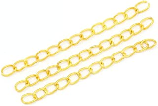 JGFinds 195 Pack Chain Extension Tails, 50mm x 3mm, Gold Plated Extender